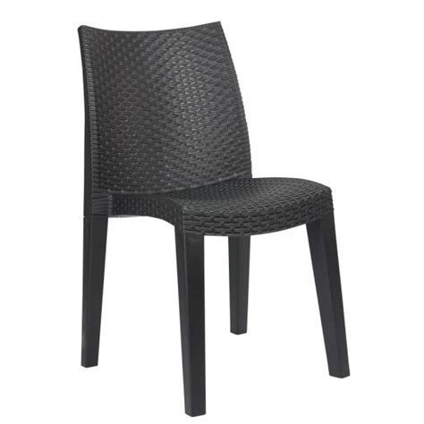Chaise De Jardin Lady Gris Anthracite  Table Chaise