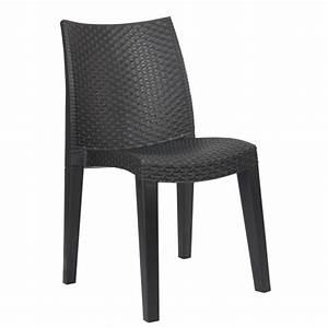 Salon De Jardin Gris Anthracite : chaise de jardin lady gris anthracite table chaise salon de jardin mobilier de jardin ~ Melissatoandfro.com Idées de Décoration