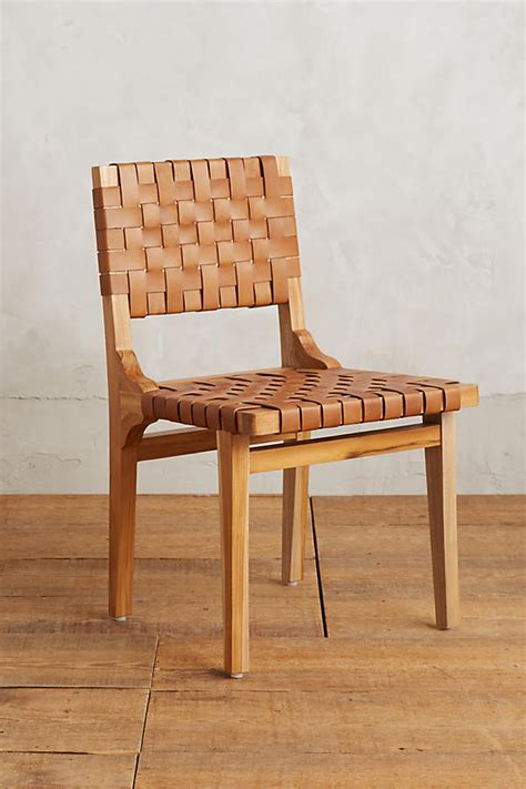 leather loom dining chair anthropologie