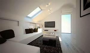 Jugendzimmer Dachschräge Einrichten : dachwohnung einrichten ~ Frokenaadalensverden.com Haus und Dekorationen
