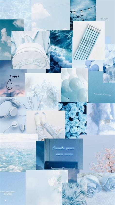 light aesthetic blue wallpapers wallpaper cave