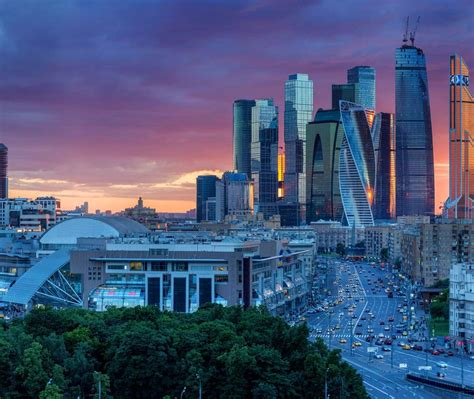 Moscow Skyline Bing Wallpaper Download