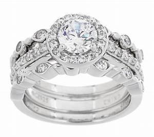 epiphany diamonique 3 piece bridal ring set page 1 qvccom With qvc wedding ring sets