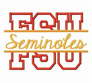 Florida State Seminoles Embroidery Design Pictures to Pin ...
