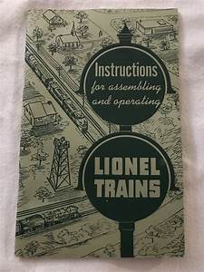 1951 Vintage Lionel Trains Instructions Book Manual