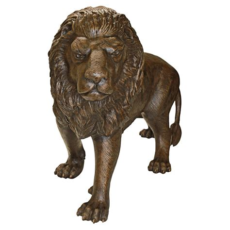 design toscano left foot  guardian lion garden