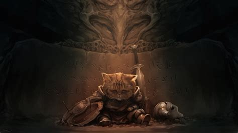 Skyrim Animated Wallpaper - cat the elder scrolls v skyrim lirik wallpapers hd