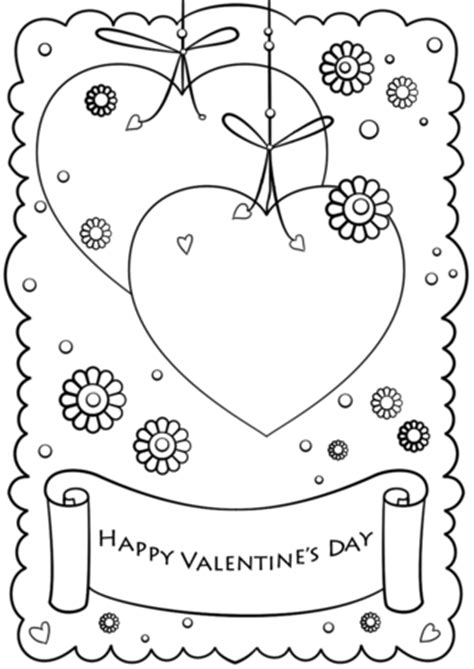 happy valentines day coloring page  printable