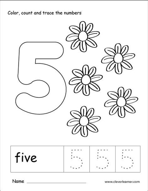 Coloring Book 13 Preschool Number Pages  Coloring Book
