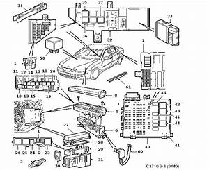 2007 Saab 9-3 Relay  Relays  Without  Memory  Function