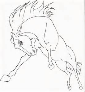 Spirit Mustang Horse Drawing