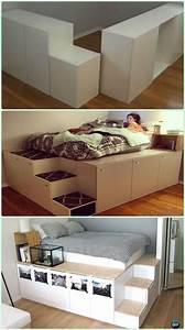 DIY IKEA Kitchen Cabinet Platform Bed Instructions - DIY