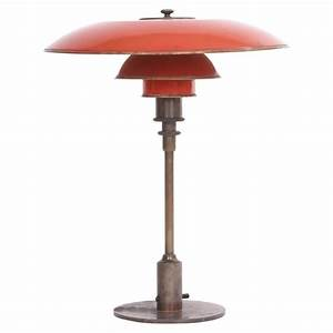 poul henningsen ph 35 2 desk lamp with red copper shades With ph2 1 table lamp