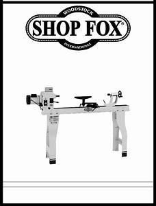 Woodstock Shop Fox W1758 User Manual