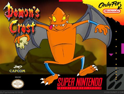 demons crest snes box art cover by psychotime