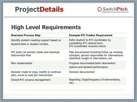 high level requirements template mccann learning management tool presentation