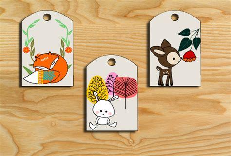 Free Printable Woodland Animals Gift Tag