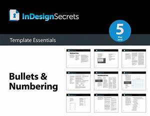 Indesign template essentials bullets numbering for How to create template in php