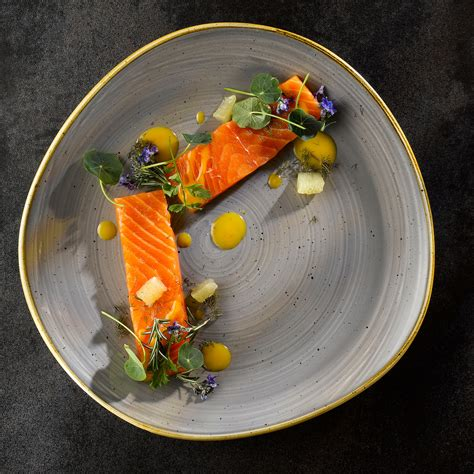 stonecast peppercorn grey organic  plate