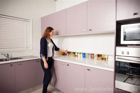 roller shutter cabinets for kitchen tambortech door secret splashback pantry cupboard