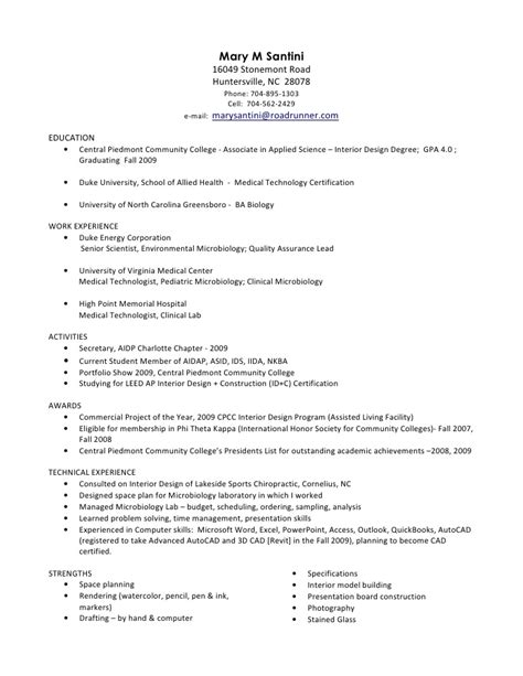 Med Tech Resume Philippines by Santini Resume