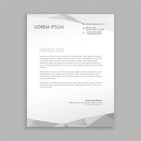 stylish modern letterhead design vector