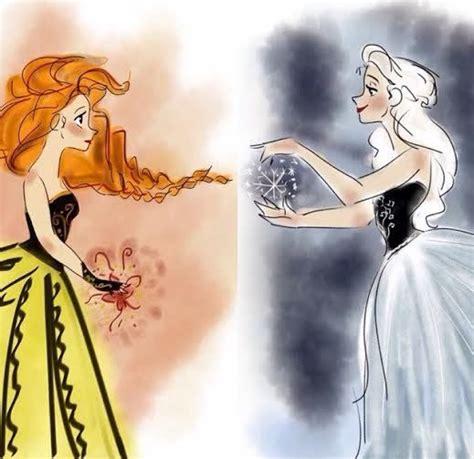 "vuelie "" mydisneyprincess13 "" sisters frozen "" beautiful "" disney drawings disney"