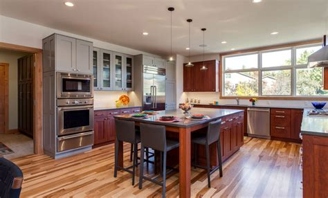 mixing kitchen cabinet colors contemporary kitchen dining room remodel with grey cabinets 7547