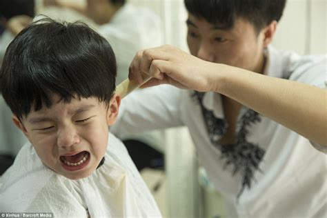 Chinese Children Get Haircuts On Traditional Head-shaving Day For Luck Haircut Deals In Dubai Pics Of Stacked Haircuts Fades For Men Natural Short Black Hair Women Fade Modern Male The Song Ray Stevens Volume Layered Medium