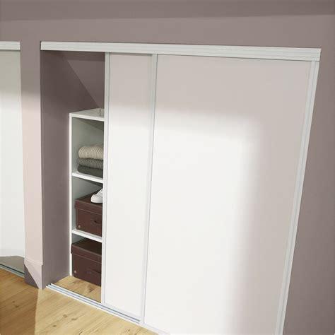 porte de cuisine coulissante lot de 2 portes de placard coulissante blanc l 120 x h 120 cm leroy merlin