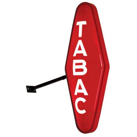 enseigne bureau de tabac carotte tabac lumineuse lpm promodern