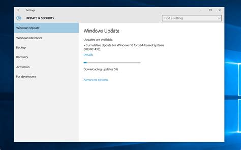 windows 10 cumulative update kb3213522 and kb3206309 install available neurogadget