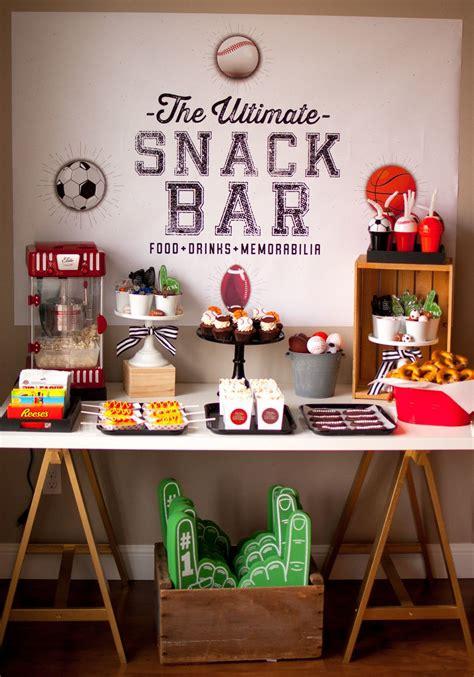 sports themed birthday party diy football party ideas