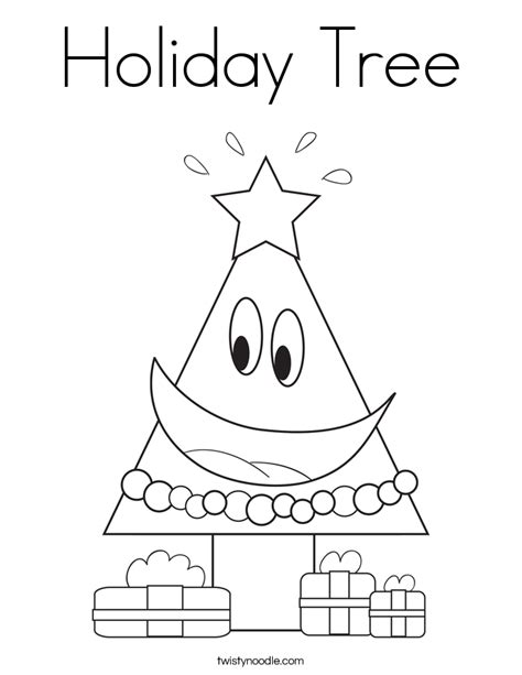 Twisty Noodle Coloring Pages Tree Coloring Page Twisty Noodle