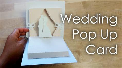 tutorial template diy wedding project pop up card