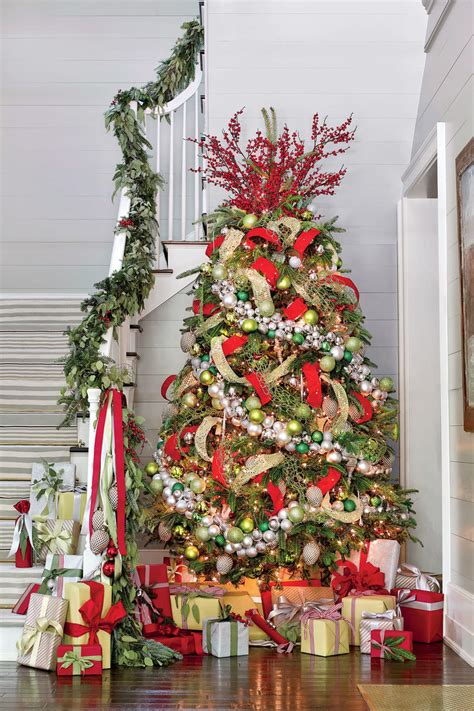 silver and christmas tree christmas tree decorating ideas southern living 6312