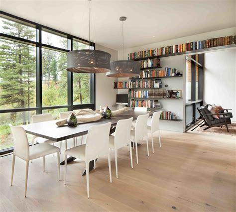 coin bureau dans salle à manger moderne maison rustique à l architecture et agencement