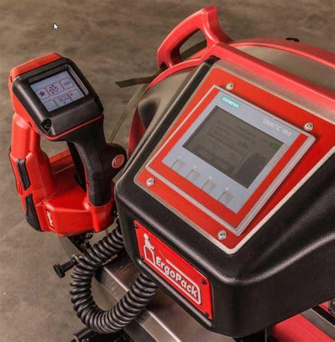ergonomic pallet strapping machine ergostrap trio packaging industrysearch australia
