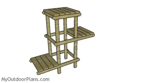 Patio Plant Stand Plans by Diy Plant Stand Plans Myoutdoorplans Free Woodworking