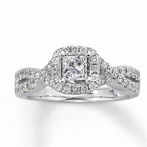 Jared diamond engagement ring 1 ct tw princess cut 14k for Jareds jewelry wedding rings