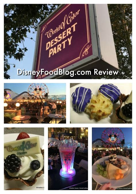 disneyland world of color dining dining in disneyland review world of color dessert