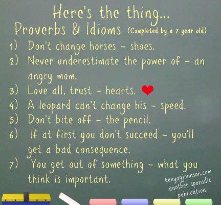 proverbs idioms