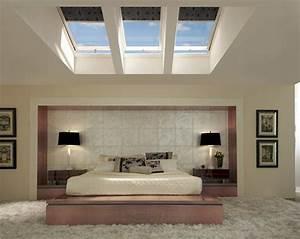 23 exemples de chambres a coucher avec fenetres de toit for Chambre a coucher adulte avec fenetre 160x80