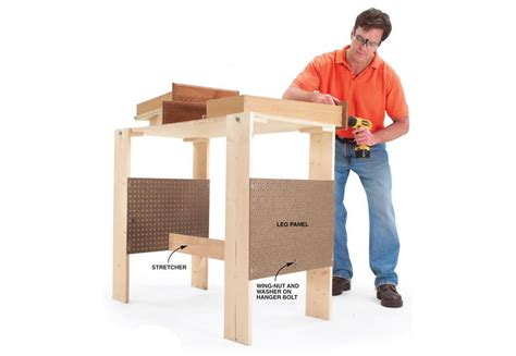 folding work table bench plans woodwork city  woodworking plans
