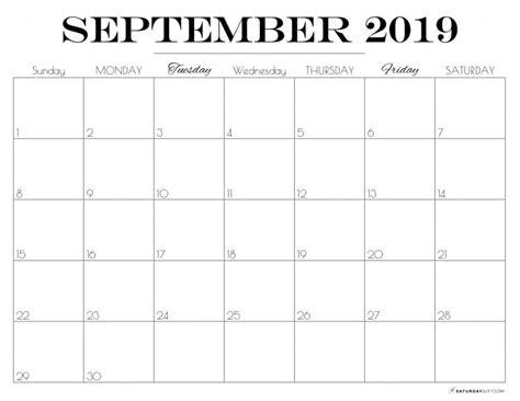 printable september  calendar  pretty printables