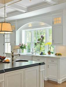 la cuisine avec ilot cuisine bien structuree et With cuisine blanche avec ilot central