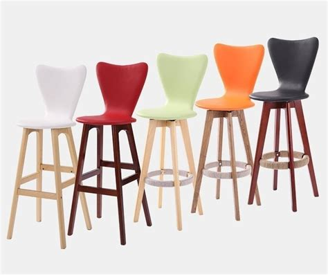 orange white bar chairs for retail sale nordic exhibition