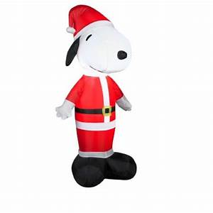 Peanuts 4 Ft Lighted Snoopy Christmas Inflatable Arett Sales 3 5 39 Inflatable Peanuts Led Lighted Snoopy