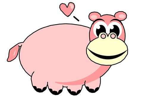 Hippo Clip Pink Hippo Clip Free Stock Photo Domain Pictures