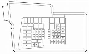 Mazda Cx-7  2007 - 2008  - Fuse Box Diagram